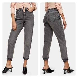 TOPSHOP Ripped Hem MOM jean